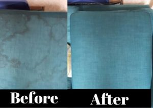 Upholstery cushions before cleaning and after cleaning. See the difference Sofa Cleaning Chelmsford